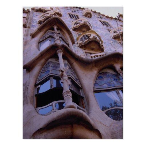 Casas Batllo, Barcelona, España Postales