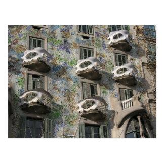 Casas Batlló en Barcelona de Antoni Gaudí Postales