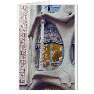 Casas Batlo, Barcelona Tarjeta De Felicitación