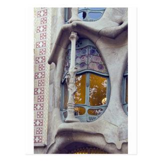 Casas Batlo, Barcelona Tarjeta Postal