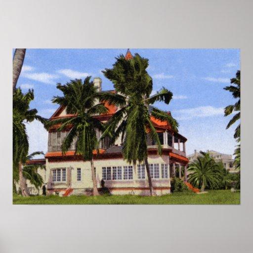 Casas Cayo Hueso el Poin más situado más al sur de Posters