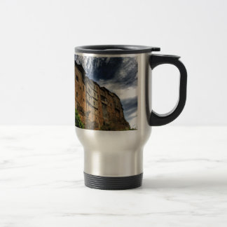Casas colgadas in Frias, Spain Travel Mug