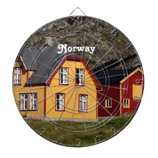 Casas coloridas de Noruega Tablero Dardos