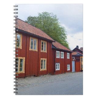 Casas coloridas, Lotsgatan, Södermalm, Estocolmo Note Book