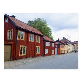 Casas coloridas, Lotsgatan, Södermalm, Estocolmo Postal