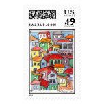 Casas coloridas sello