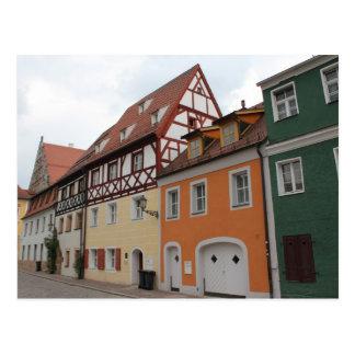 Casas coloridas tarjeta postal
