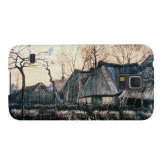 Casas con los tejados cubiertos con paja de Vincen Fundas Para Galaxy S5