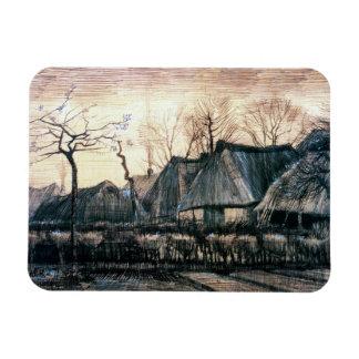 Casas con los tejados cubiertos con paja de Vincen Imanes De Vinilo