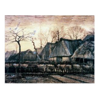 Casas con los tejados cubiertos con paja de Vincen Postal