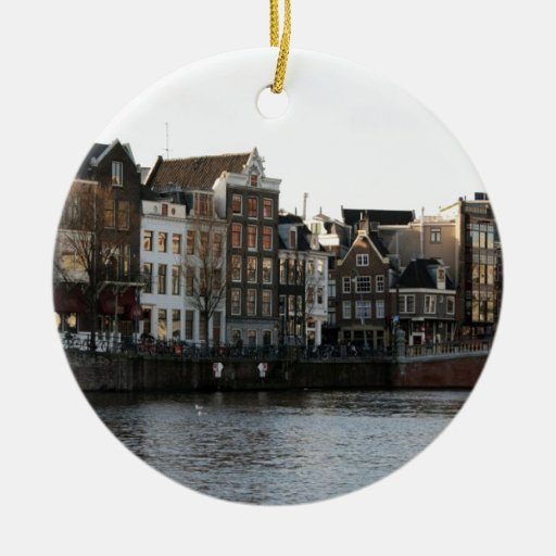 Casas de Amsterdam Adorno Redondo De Cerámica