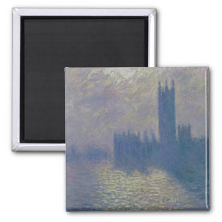 Casas de Claude Monet el | del parlamento, cielo Imán Cuadrado