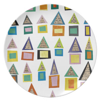 Casas de fila platos para fiestas