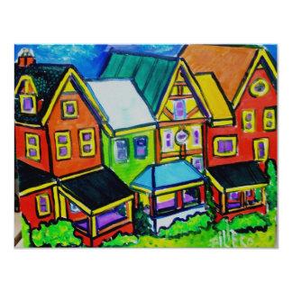 "Casas de fila Vermont Invitación 4.25"" X 5.5"""