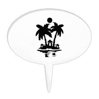 casas de isla de la playa invert.png decoración para tarta