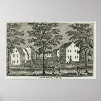 Casas de la coctelera en Enfield Poster