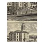 Casas de la escuela, San Jose, California Postales