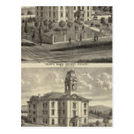 Casas de la escuela, San Jose, California Tarjeta Postal