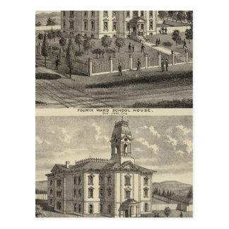 Casas de la escuela San Jose California Tarjeta Postal