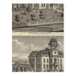 Casas de la escuela, San Jose Tarjeta Postal