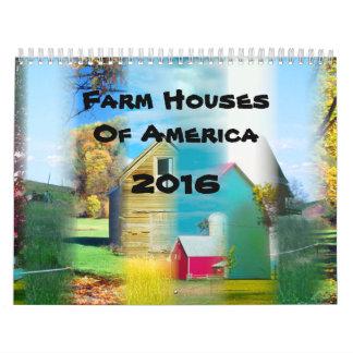 Casas de la granja de América 2016 Calendario