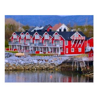 Casas de la orilla del agua de Noruega, Bergen Postal