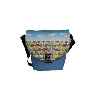Casas de las casas en la mini bolsa de mensajero d bolsas de mensajeria