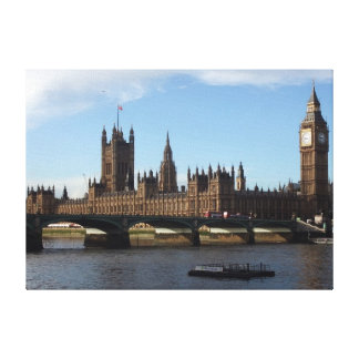 Casas de Londres del parlamento Impresiones En Lona Estiradas