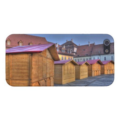 Casas de madera iPhone 5 cobertura