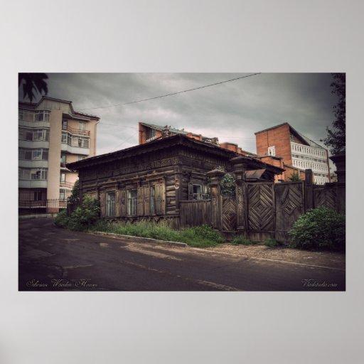 Casas de madera siberianas (proyecto por vladstudi póster