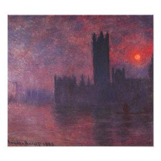 Casas de Monet del parlamento en la impresión de l Fotografía
