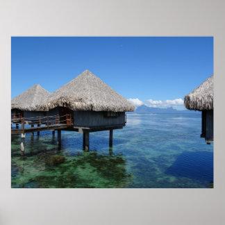 Casas de planta baja en Bora Bora Póster