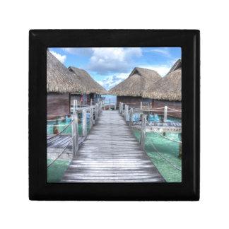 Casas de planta baja ideales de Bora Bora Joyero Cuadrado Pequeño