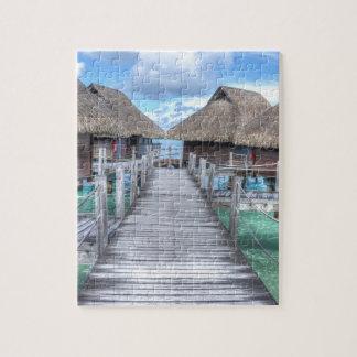 Casas de planta baja ideales de Bora Bora Puzzle