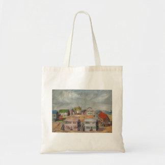 Casas de playa bolsa tela barata