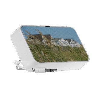 Casas de playa e hierba de la playa