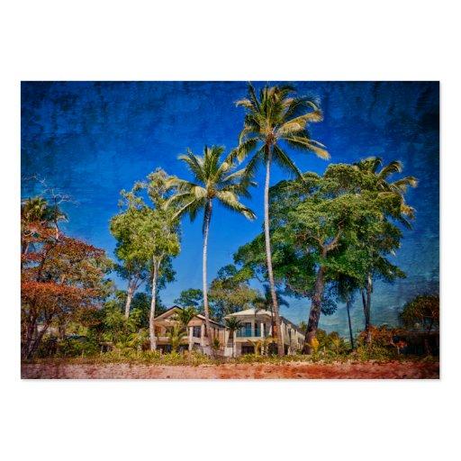 Casas de playa plantillas de tarjeta de negocio
