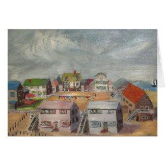Casas de playa tarjetas