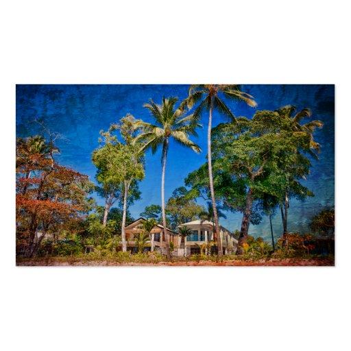 Casas de playa tarjeta de visita
