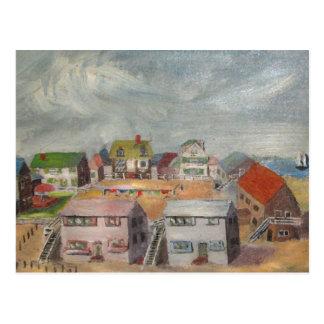 Casas de playa tarjeta postal