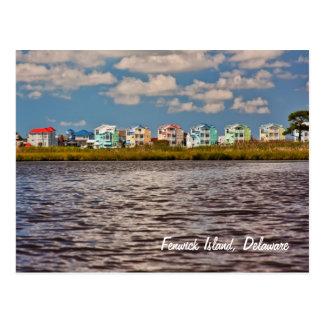 Casas de playa postal
