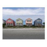 Casas de playa tarjetas postales