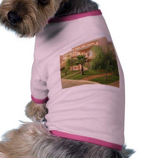 Casas de vacaciones en la isla de Corfú en Grecia Camiseta De Perro