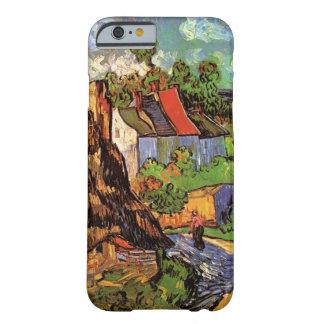 Casas de Van Gogh en cabañas del país del vintage Funda De iPhone 6 Barely There
