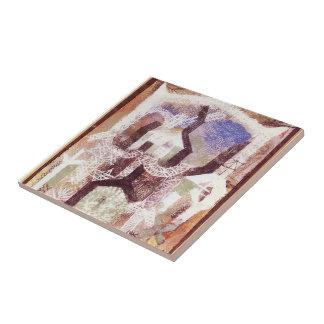 Casas de verano de Paul Klee- Azulejo Cuadrado Pequeño