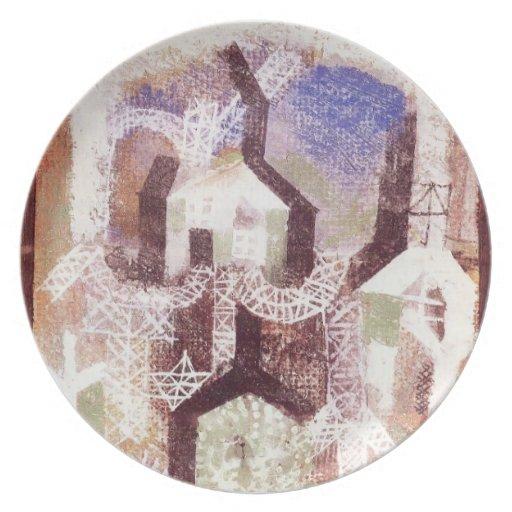 Casas de verano de Paul Klee- Plato De Cena