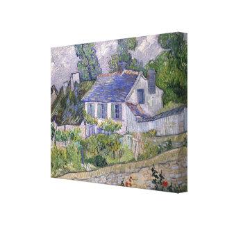 Casas de Vincent van Gogh en Auvers Lona Estirada Galerias