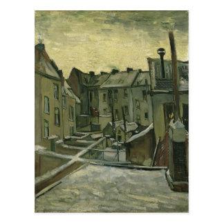 Casas de Vincent van Gogh vistas de la fuente tras Tarjetas Postales