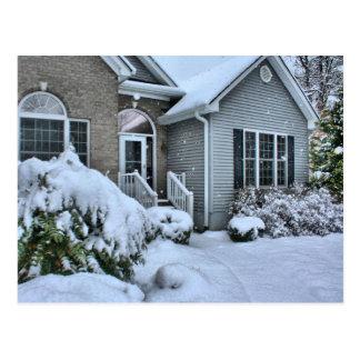 Casas del invierno tarjeta postal