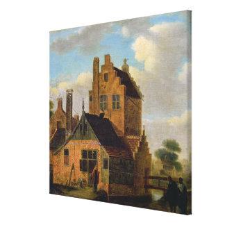 Casas del ladrillo lona envuelta para galerías